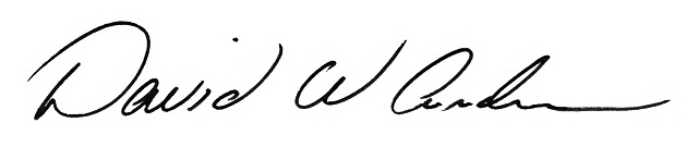 David W. Andrews, Ph.D. signature